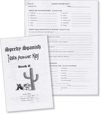 Speedy Spanish Book 2 Tests and Answer Key