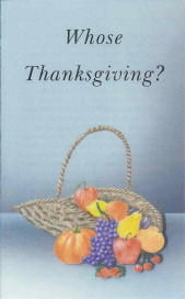Tract [B] - Whose Thanksgiving?