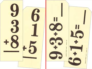 Grade 2 Schoolaid Math - Column Addition Flash Cards