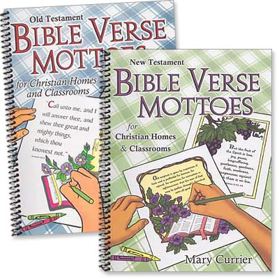 "Set of 2 ""Bible Verse Mottoes"" Activity Books"