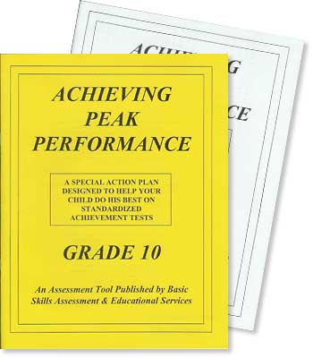Grade 10 - Achieving Peak Performance - Test Preparation