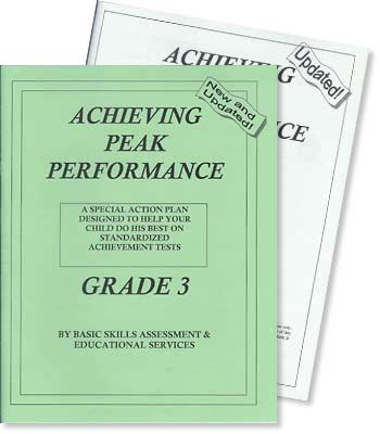 Grade 3 - Achieving Peak Performance - Test Preparation