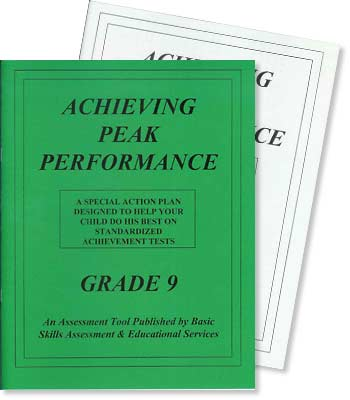 Grade 9 - Achieving Peak Performance - Test Preparation