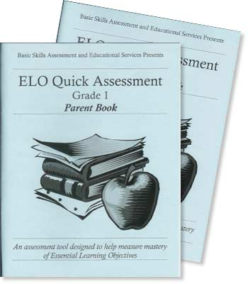Grade 1 - ELO (Essential Learning Objectives) Quick Assessment Test