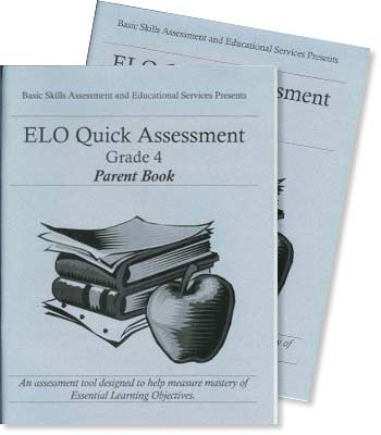 Grade 4 - ELO (Essential Learning Objectives) Quick Assessment Test