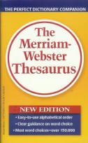 The Merriam-Webster Thesaurus - paperback
