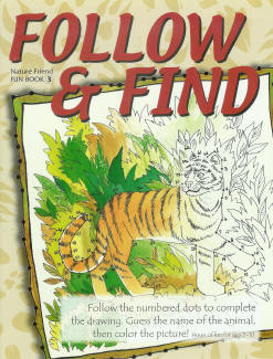 Fun Book 3: Follow and Find (dot-to-dot coloring)