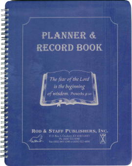 Combination Planner & Record Book