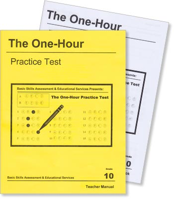 Grade 10 - The One-Hour Practice Test - Test Preparation