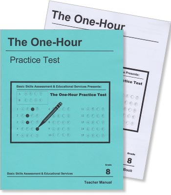 Grade 8 - The One-Hour Practice Test - Test Preparation