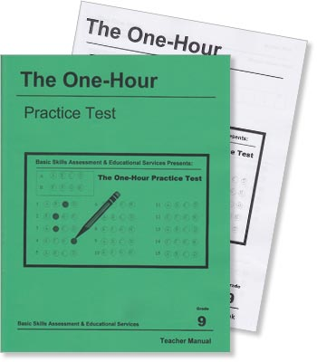 Grade 9 - The One-Hour Practice Test - Test Preparation