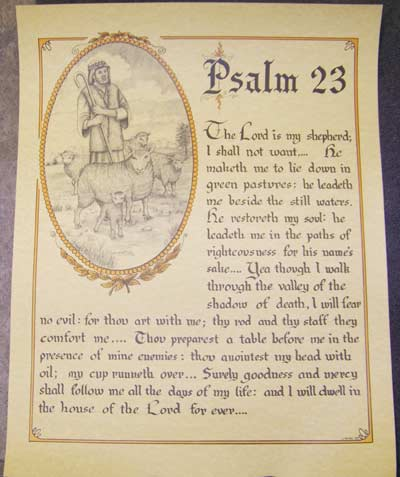 Psalm 23 - Poster