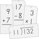 Math Flash Cards (Classroom Size) - Set of 4