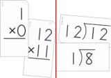 Math Flash Cards (Small) - Multiplication and Division