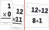 Small Math Flash Cards - Multiplication and Division
