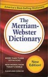 The Merriam-Webster Dictionary - paperback