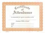 VBS - Certificate of Attendance