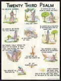 Illustrated Psalm 23 - Laminated Poster